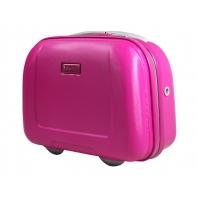Kuferek, kosmetyczka Puccini ABS różowa, podróżna