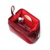Kosmetyczka damska Orsatti K01 w kolorze czerwonym, skóra