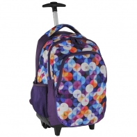 Plecak szkolny na kółkach Paso kolorowe kółeczka