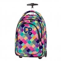 Plecak szkolny na kółkach CoolPack Target Cranberry Check 631