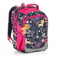 Plecak szkolny trzykomorowy dla dziewczynki Topgal CHI 876