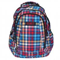 Trzykomorowy plecak szkolny St.Reet 29 L, Chequered Pattern