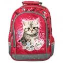 Plecak szkolny dla dziewczynki My Little Friend Kotek, czerwony