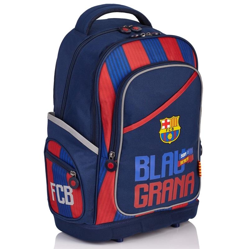 7d3d3a4244393 Trzykomorowy plecak szkolny FC Barcelona FC-141