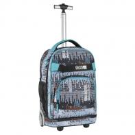 Plecak szkolny na kółkach Paso, duże koła, motyw pikseli