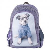 Plecak szkolny dla dziewczynki Paso pies w okularach