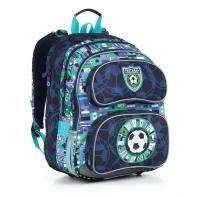 Plecak szkolny trzykomorowy dla chłopca Topgal CHI 884