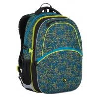 Plecak szkolny Bagmaster w zielono-niebieski wzór