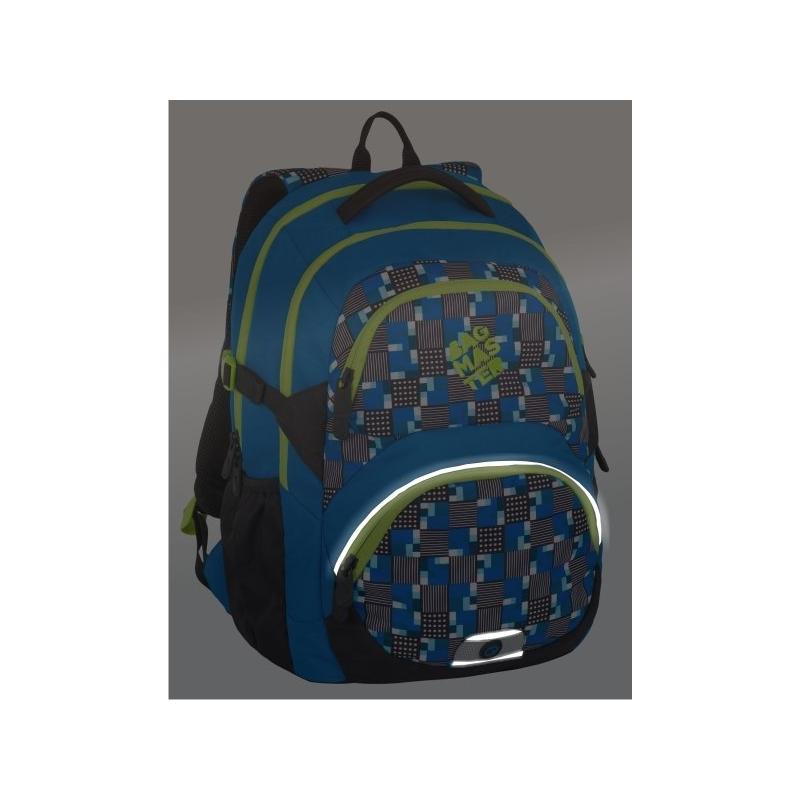 59eeed3d8dbd2 Lekki plecak szkolny Bagmaster w kratkę