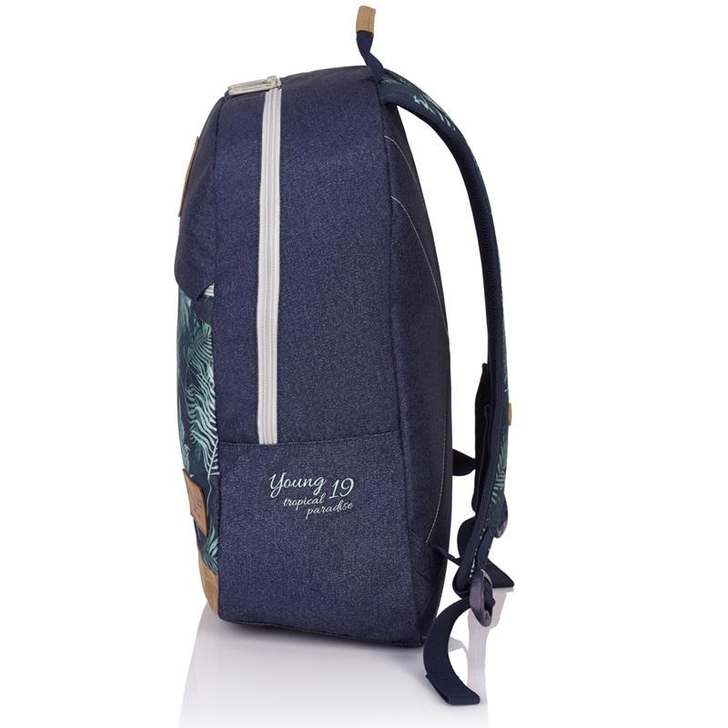 603aa53366675 Bardzo lekki plecak młodzieżowy HEAD HD-01 Astra, w liście