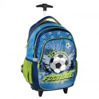 Plecak szkolny na kółkach Paso, piłka nożna