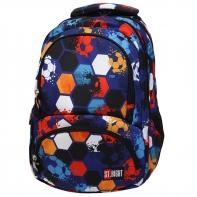 Trzykomorowy plecak szkolny St.Right 29 L, Beta Stripes BP4