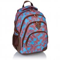 Plecak szkolny Astra Head HD-115, niebieski w czerwone motyle