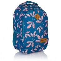 Plecak szkolny Astra Head HD-60, w różowe liście