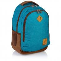 Plecak szkolny Astra Head HD-56, niebiesko - brązowy