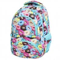 Dwukomorowy plecak szkolny St.Right 24 L, Donuts