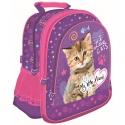 Plecak szkolny dla dziewczynki My Little Friend Kotek, fioletowy