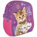 Plecaczek dziecięcy My Little Friend kotek, fioletowy