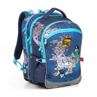 Plecak szkolny trzykomorowy dla chłopca Topgal COCO 18015