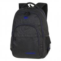 Młodzieżowy plecak szkolny Basic Plus 27L, Topography Blue A147