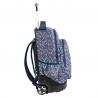 Plecak szkolny na kółkach Paso, duże koła, w kolorowe kwiatuszki