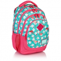 Plecak szkolny mini Astra Head HD-198, miętowo-różowy we flamingi