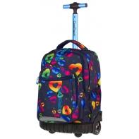 Plecak szkolny na kółkach CoolPack Swift RAINBOW HEARTS + gratis