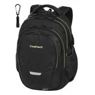 Młodzieżowy plecak szkolny CoolPack Factor 29L, TOPOGRAPHY YELLOW + gratis