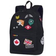 Plecak szkolny CoolPack Cross 25L, Badges Black