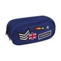 Saszetka piórnik szkolny Coolpack Clever, BADGES BLUE A411