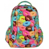 Dwukomorowy plecak szkolny St.Right 20 L, Donuts