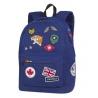 Plecak szkolny CoolPack Cross 25L, Badges Blue