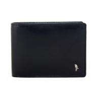 Męski poziomy portfel Puccini PL20438 w kolorze czarnym z bogatym wyposażeniem
