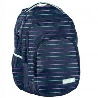 Lekki plecak szkolny Paso, granatowy w paski