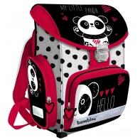Lekki tornister szkolny z klasycznym zapięciem, Bambino Panda