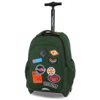 Plecak szkolny na kółkach CoolPack Junior 24 L, Badges Green