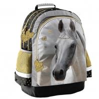 Plecak szkolny dla dziewczynki z białym koniem, Paso
