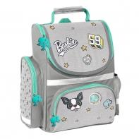 Lekki usztywniany tornister szkolny szaro-miętowy Barbie, Paso