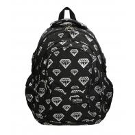 Trzykomorowy plecak szkolny St.Right 29 L, Diamenty BP1