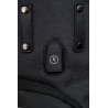 Męski plecak miejski na laptopa i tablet + USB, Roll Black R-bag