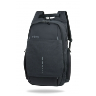 "Plecak męski na laptopa 13-15,6"" + USB, R-bag Drum Black"
