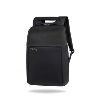 "Plecak męski na laptopa 13-15,6"" + USB, R-bag Fort Black"