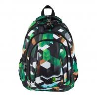 Trzykomorowy plecak szkolny St.Right 29 L, MOTYW GRY 3D, BP4