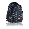 Dwukomorowy plecak szkolny młodzieżowy Astra Head, X-RAY SHARKS